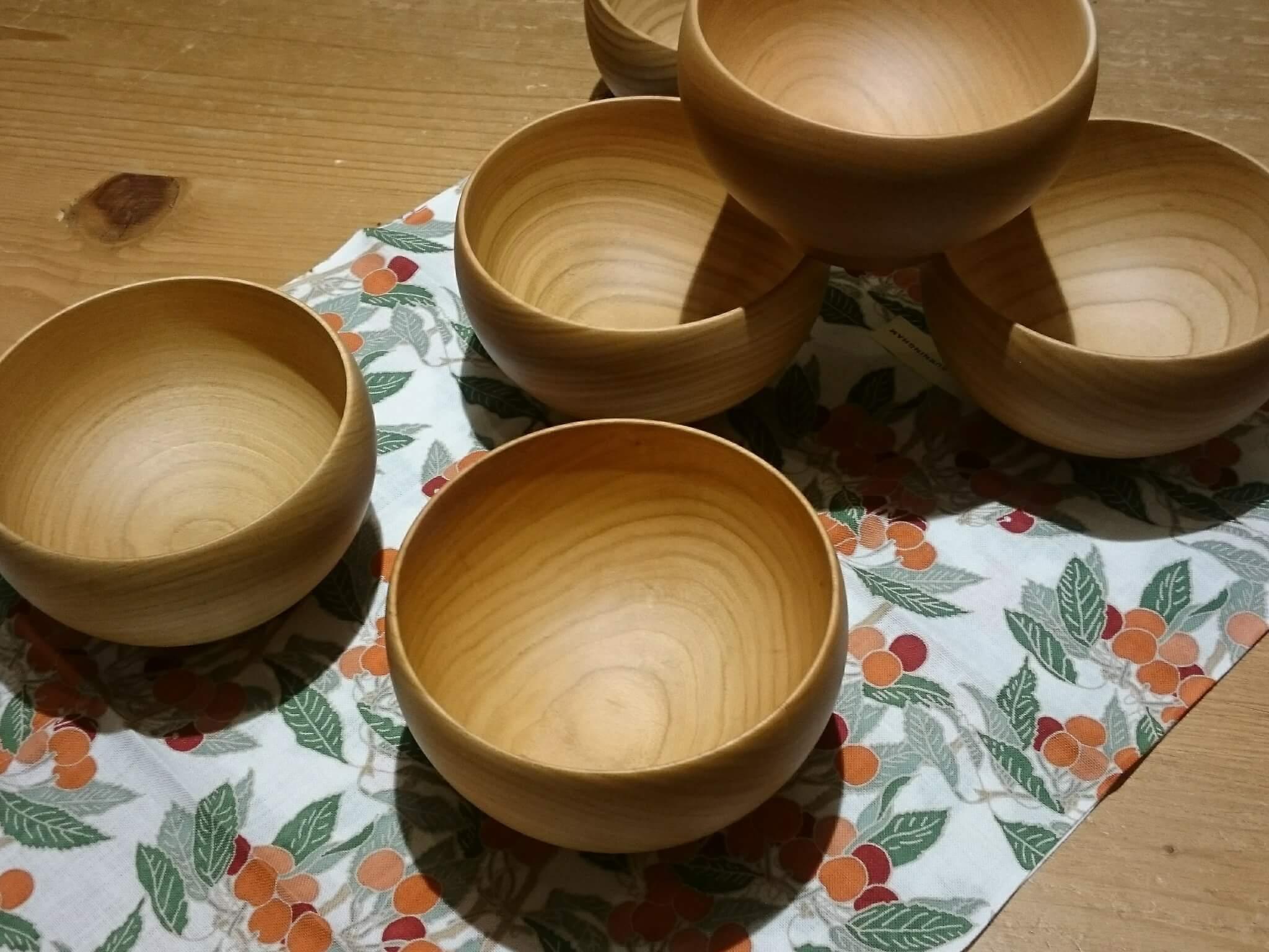 Cherry tree bowl MEIBOKU-WAN 桜の木で作られためいぼく椀