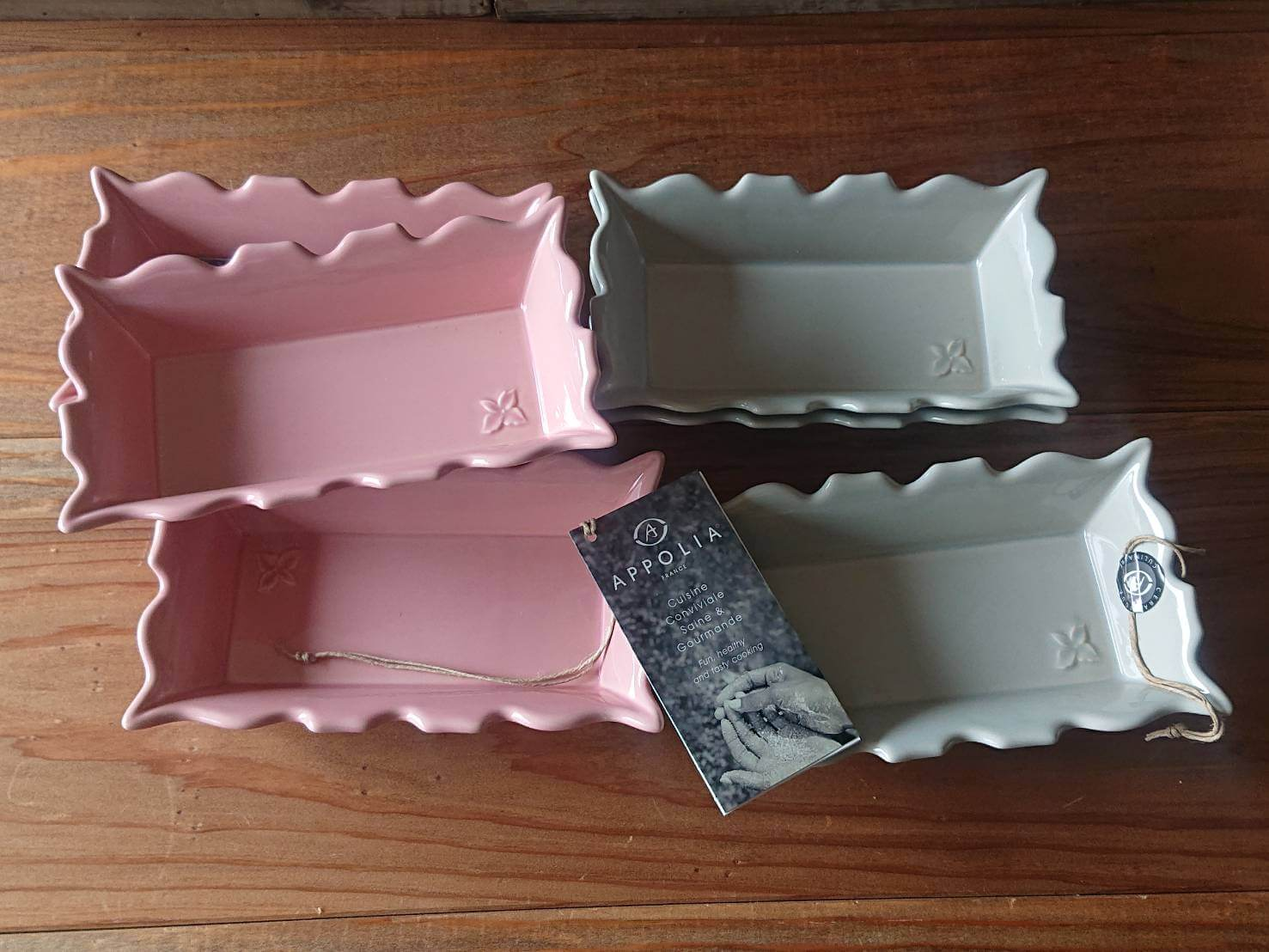 APPOLIA SNACK DISH PINK&GRAY