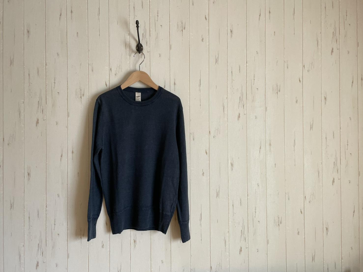G.R.P  Linen Crew Neck Sweater イタリアメイドのリネンクルーネックニット