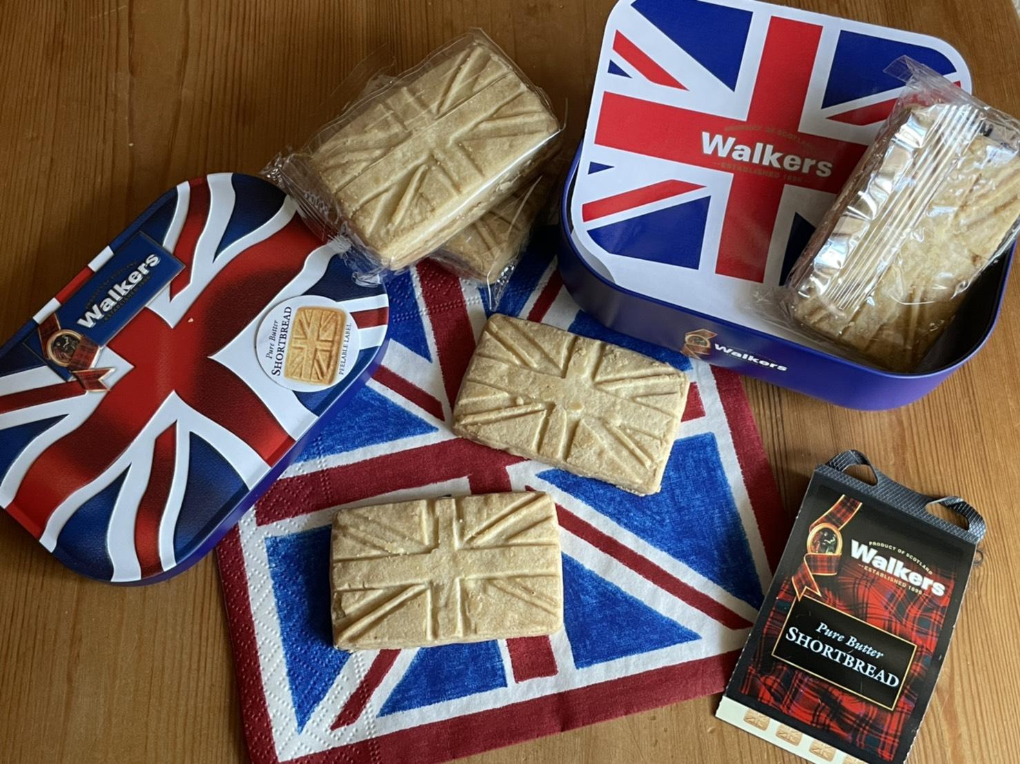 Walkers Union jack Design ユニオンジャックの缶もかわいいウォーカーショートブレッド