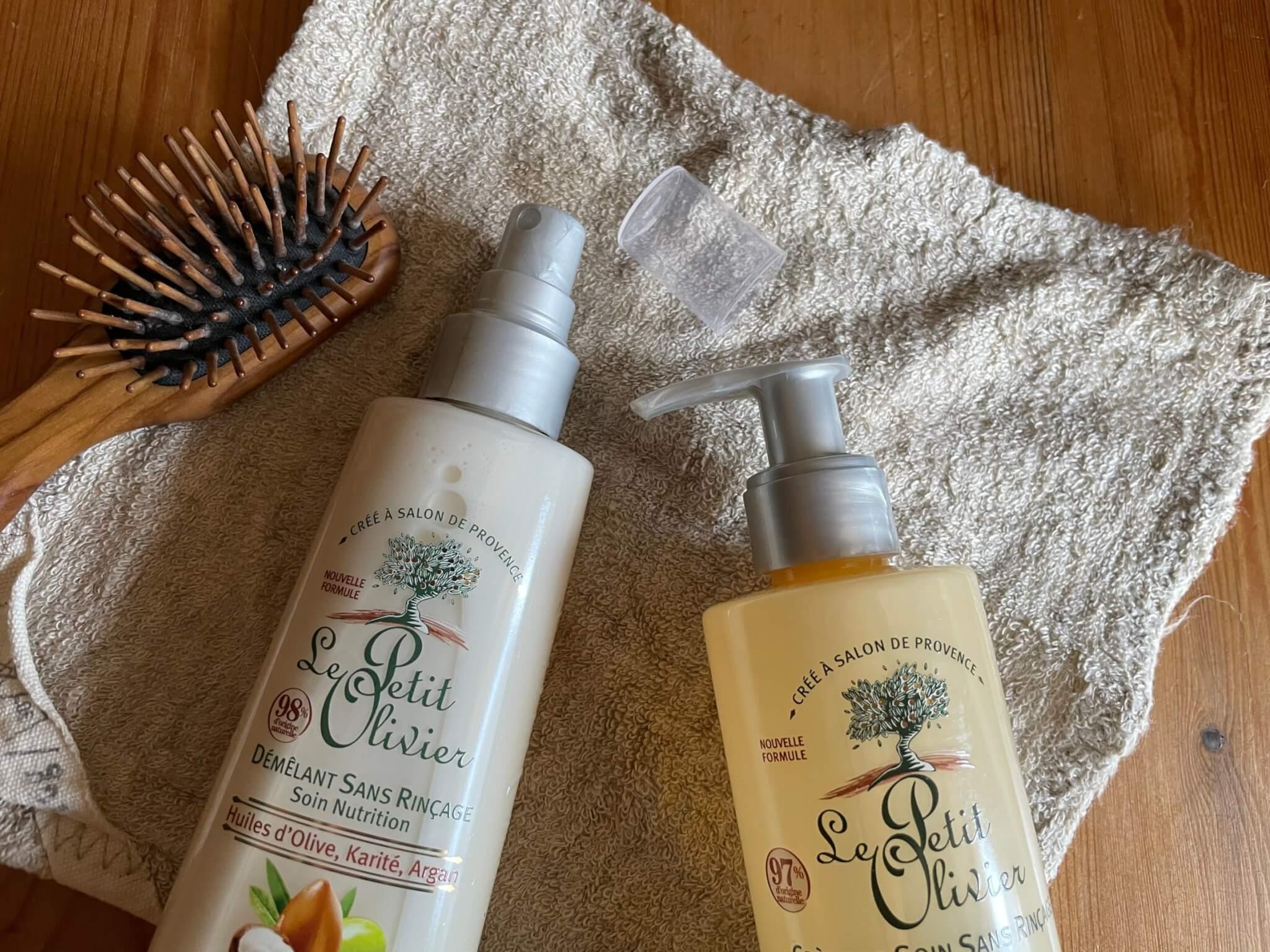 Le Petit Olivier treatment Hair milk & hair spray  洗い流さないトリートメントプチオリビエヘアケアシリーズ