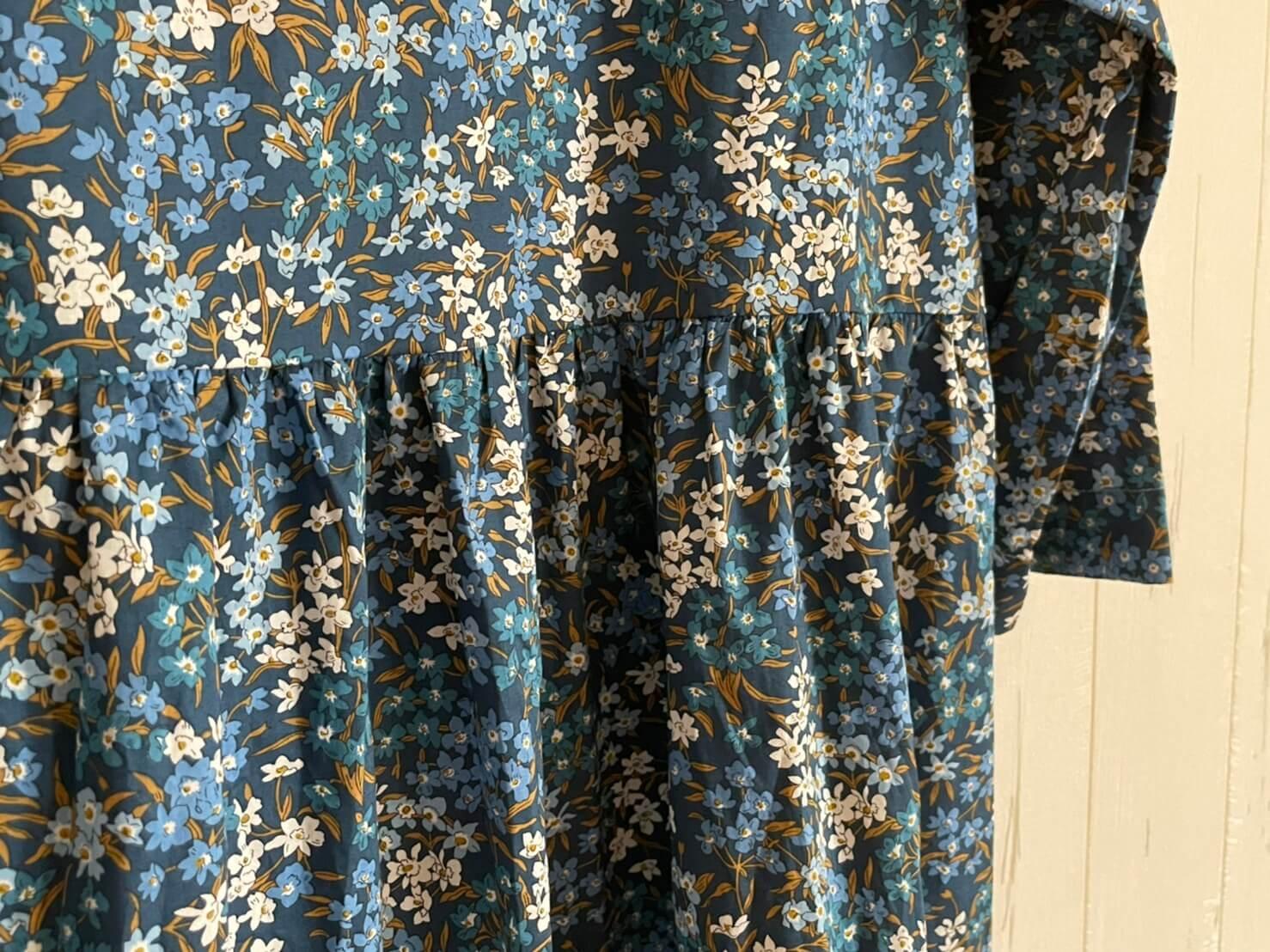 LIBERTY PRINT ONE PIECE Sea Blossoms 一枚で着ても素敵 リバティプリントのワンピース