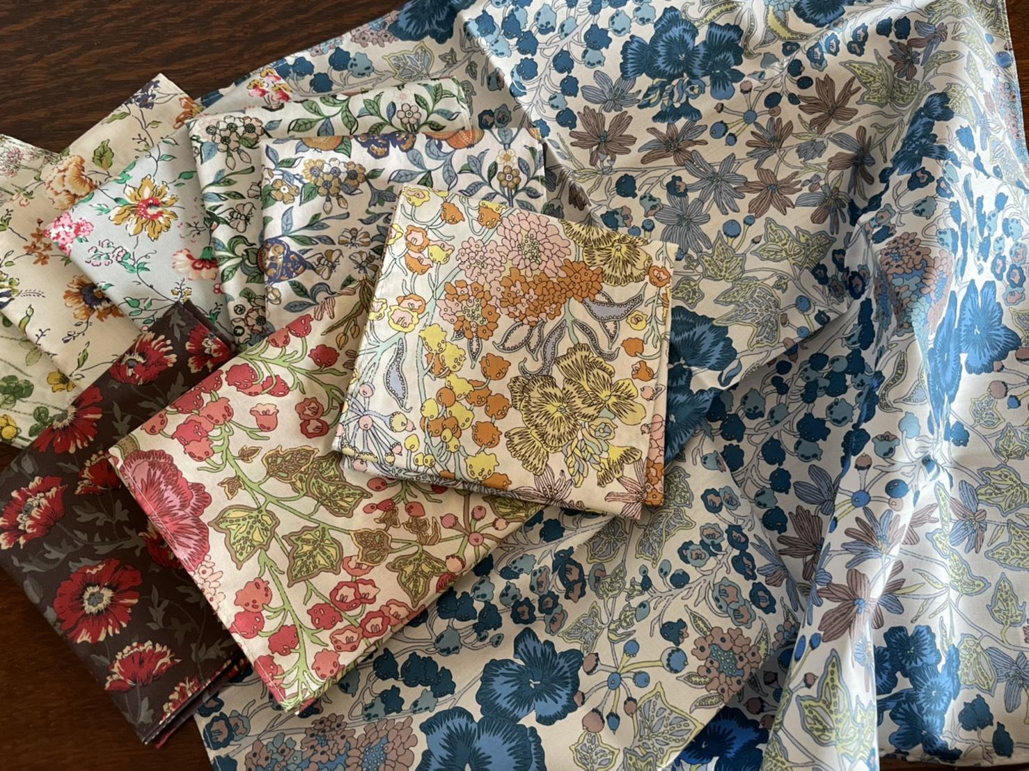 Liberty fabric handkerchief 2021AW